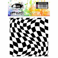 Visible Image - 6 x 6 Stencil - Distorted Chess