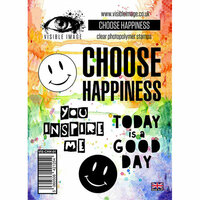 Visible Image - Clear Acrylic Stamps - Choose Happiness