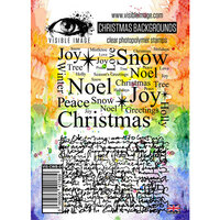 Visible Image - Clear Photopolymer Stamps - Christmas Backgrounds