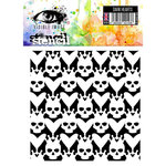 Visible Image - Alice in Wonderland Collection - 6 x 6 Stencil - Dark Hearts