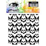 Visible Image - Alice in Wonderland Collection - 6 x 6 Stencil - Dark Hearts