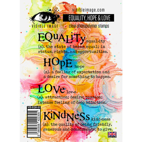 Visible Image - Clear Photopolymer Stamps - Equality Hope and Love