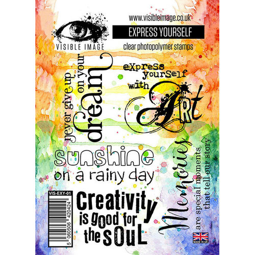 Visible Image - Clear Acrylic Stamps - Express Yourself