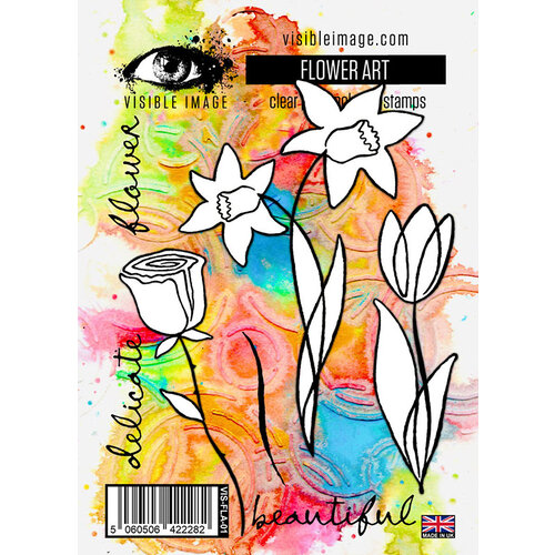Visible Image - Clear Photopolymer Stamps - Flower Art