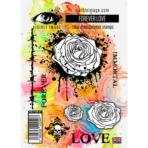 Visible Image - Clear Photopolymer Stamps - Forever Love