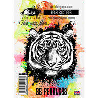 Visible Image - Clear Photopolymer Stamps - Fearless Tiger