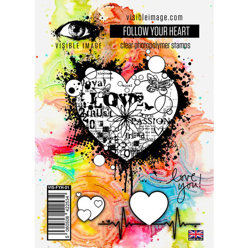 Visible Image - Clear Photopolymer Stamps - Follow Your Heart