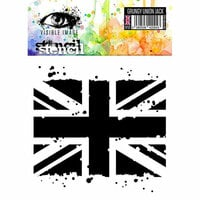 Visible Image - 6 x 6 Stencil - Grungy Union Jack
