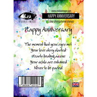 Visible Image - Clear Photopolymer Stamps - Happy Anniversary