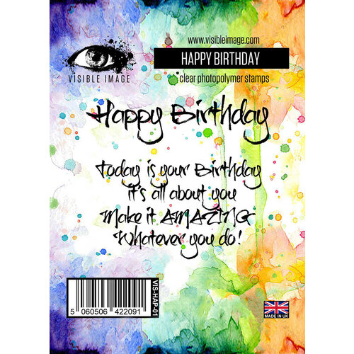 Visible Image - Clear Photopolymer Stamps - Happy Birthday