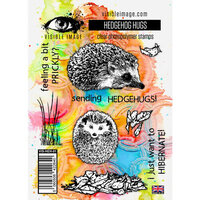 Visible Image - Clear Photopolymer Stamps - Hedgehog Hugs