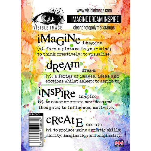 Visible Image - Clear Acrylic Stamps - Imagine Dream Inspire