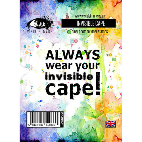 Visible Image - Clear Acrylic Stamps - Invisible Cape