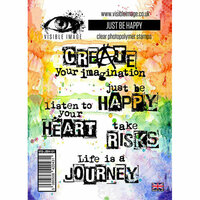 Visible Image - Clear Acrylic Stamps - Just Be Happy