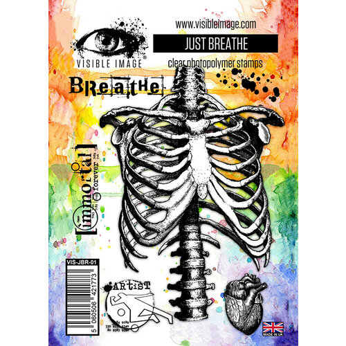 Visible Image - Clear Photopolymer Stamps - Just Breathe