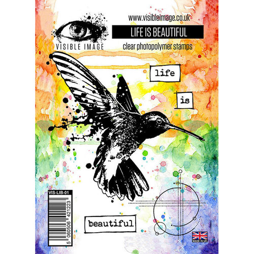 Visible Image - Clear Acrylic Stamps - Life is Beautiful
