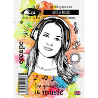 Visible Image - Clear Photopolymer Stamps - Lost In Music