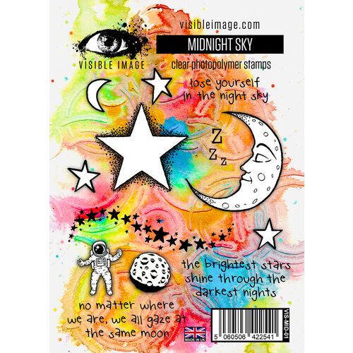Visible Image - Clear Photopolymer Stamps - Midnight Sky