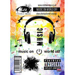 Visible Image - Clear Acrylic Stamps - Music On World Off