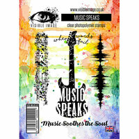 Visible Image - Clear Acrylic Stamps - Music Speaks