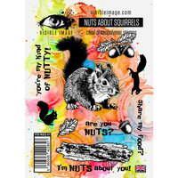 Visible Image - Clear Photopolymer Stamps - Nuts About Squirrels