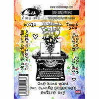Visible Image - Clear Acrylic Stamps - One Kind Word