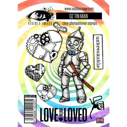 Visible Image - Wizard of Oz Collection - Clear Photopolymer Stamps - Tin Man
