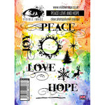 Visible Image - Christmas - Clear Acrylic Stamps - Peace Love and Hope