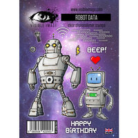 Visible Image - Clear Photopolymer Stamps - Robot Data