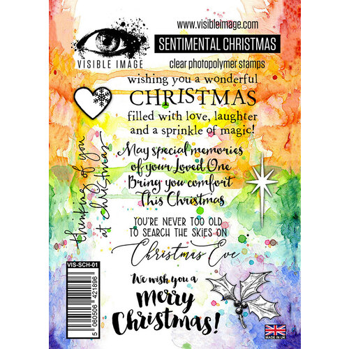 Visible Image - Clear Photopolymer Stamps - Sentimental Christmas
