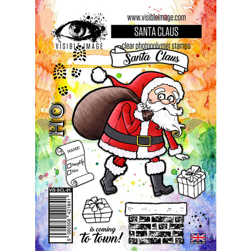 Visible Image - Christmas - Clear Photopolymer Stamps - Santa Claus