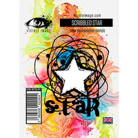 Visible Image - Clear Photopolymer Stamps - Scribbled Star