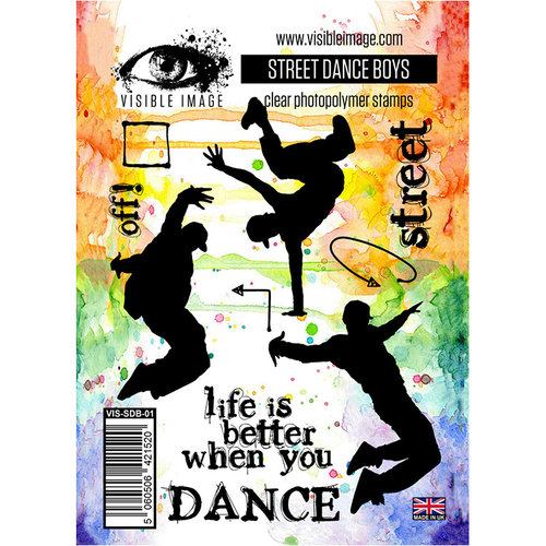 Visible Image - Clear Acrylic Stamps - Street Dance Boys