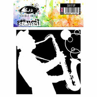 Visible Image - 6 x 6 Stencil - Sax It Up