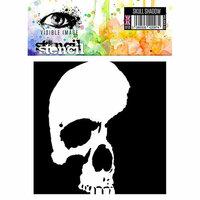 Visible Image - 6 x 6 Stencil - Skull Shadow