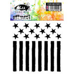Visible Image - 6 x 6 Stencil - Stars and Stripes