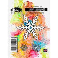 Visible Image - Clear Photopolymer Stamps - Simply Snowflakes