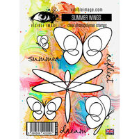 Visible Image - Clear Photopolymer Stamps - Summer Wings