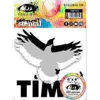 Visible Image - 6 x 6 Stencil - Time Flies