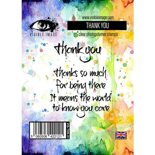 Visible Image - Clear Photopolymer Stamps - Thank You