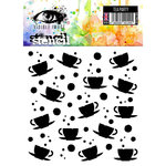 Visible Image - Alice in Wonderland Collection - 6 x 6 Stencil - Tea Party