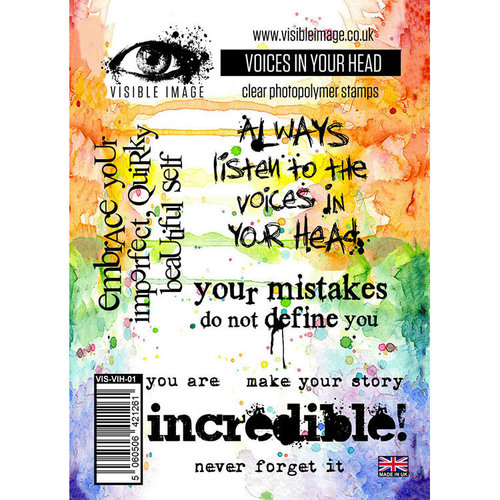 Visible Image - Clear Acrylic Stamps - Voices In Your Head