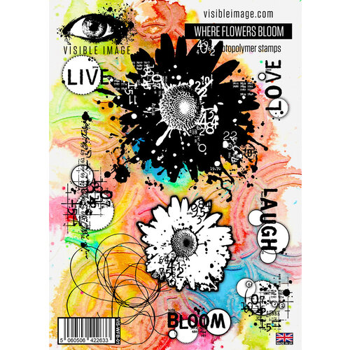 Visible Image - Clear Photopolymer Stamps - Where Flowers Bloom