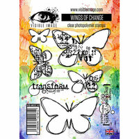 Visible Image - Clear Photopolymer Stamps - Wings of Change