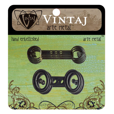 Vintaj Metal Brass Company - Arte Metal - Hardware - Journal Buckles