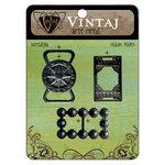 Vintaj Metal Brass Company - Arte Metal - Ribbon Slides - Nostalgia