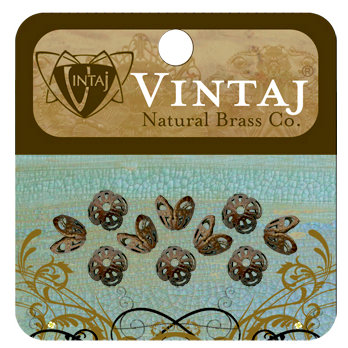 Vintaj Metal Brass Company - Metal Jewelry Hardware - Filigree Bead Caps