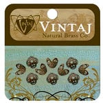 Vintaj Metal Brass Company - Metal Jewelry Hardware - Bead Caps - Filigree