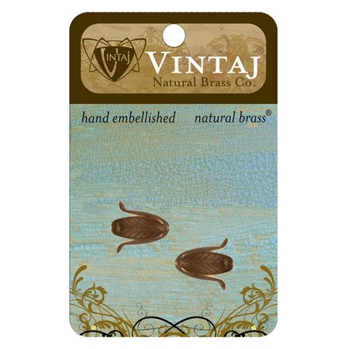 Vintaj Metal Brass Company - Metal Jewelry Hardware - Bead Caps - Magnolia Leaf