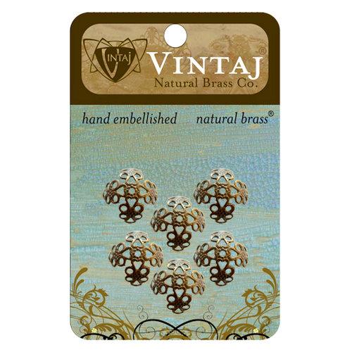 Vintaj Metal Brass Company - Metal Jewelry Hardware - Filigree Bead Caps - Small